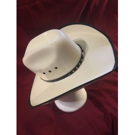 Heather White Tex Hat