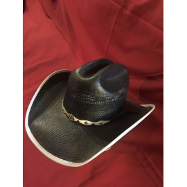 Travis Black Straw Hat
