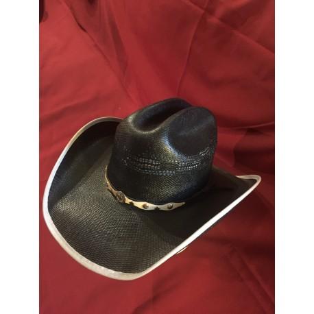 Travis Black Straw Hat